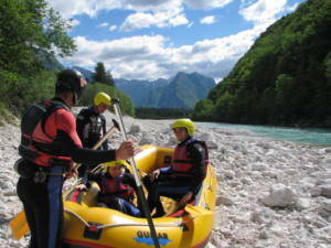 Rafting in Soča valley